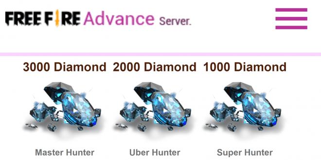 cara berbagung di advance server free fire 2020