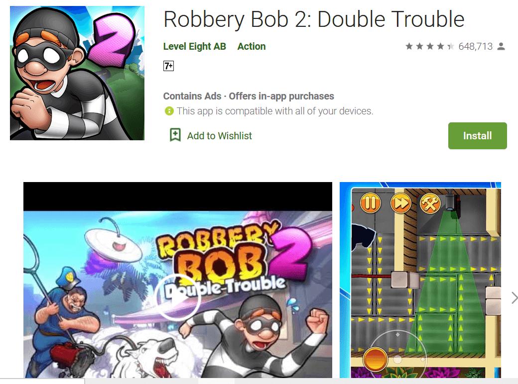 Download Robbery Bob 2 Mod Apk 2020