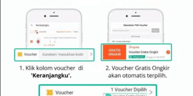 2 Cara Klaim Voucher Gratis Ongkir Shopee