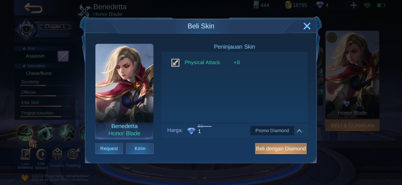Cara Dapat Skin Mobile Legend Dengan 1 Diamond