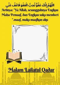 Kumpulan Twibbon Malam Lailatul Qadar