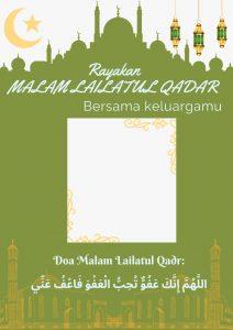 Download Disini Kumpulan Twibbon Malam Lailatul Qadar
