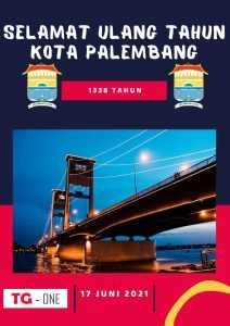 Poster Ulang Tahun Kota Palembang ke 1338