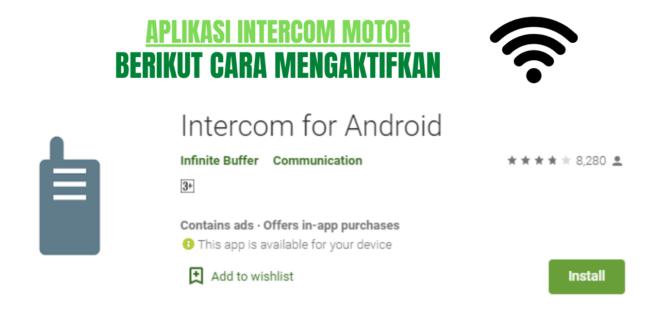 aplikasi intercom motor